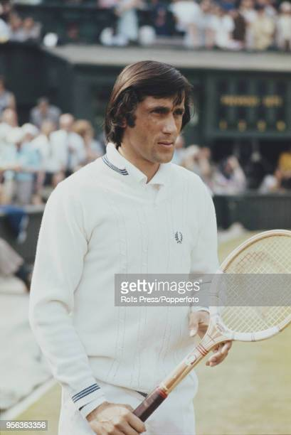 Romanian tennis player Ilie Nastase pictured prior to playing against Manuel Orantes of Spain in the semifinals of the Men's Singles tournament at...
