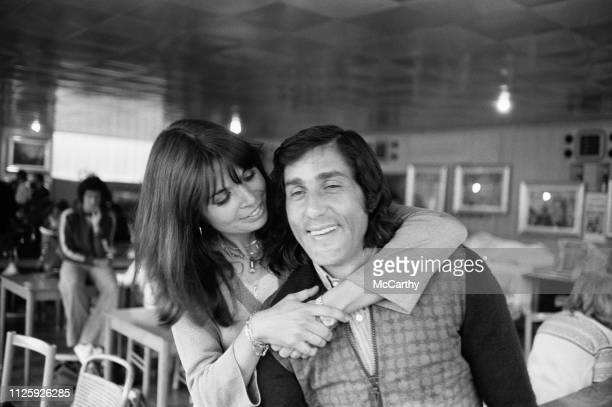 Romanian tennis player Ilie Nastase with his wife Dominique Nastase UK 18th May 1977