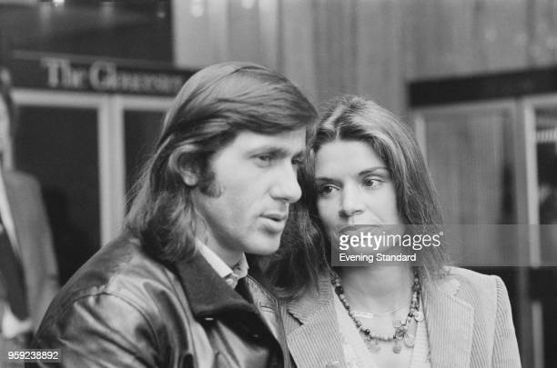 Romanian tennis player Ilie Nastase with his wife Dominque Grazia London UK 5th July 1978
