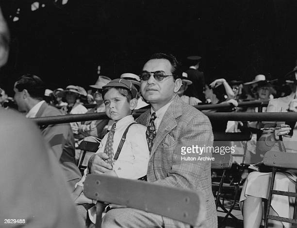 Romanianborn American actor Edward G Robinson at a sporting event Original Publication People Disc HK0552