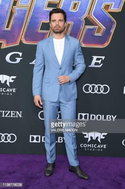 Romanian/US actor Sebastian Stan arrives for the World premiere of Marvel Studios' Avengers Endgame at the Los Angeles Convention Center on April 22...