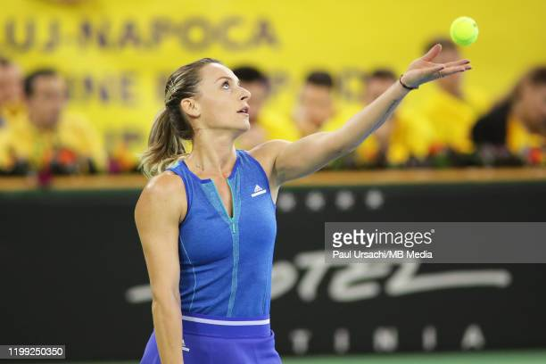 Romania's Ana Bogdan during the 2020 Fed Cup Qualifier between Romania and Russia on February 7, 2020 in Cluj-Napoca, Romania.