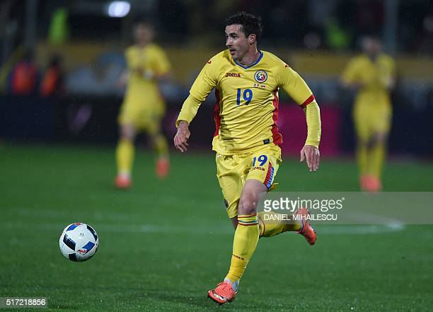 Romania's Bogdan Sorin Stancu is pictured during the friendly football match between Romania and Lithuania in Bucharest March 23 2016 Romania won 10...