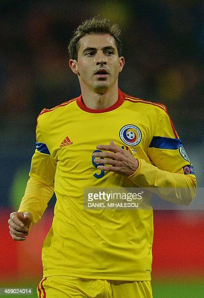 Romania's Bogdan Stancu is pictured during the UEFA 2016 European Championship qualifying round Group F football match Romania vs Northern Ireland at...