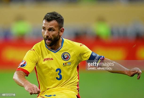 Romania's defender Razvan Rat looks on ahead of the UEFA Euro 2016 qualifying football match between Romania and Greece in Bucharest Romania on...