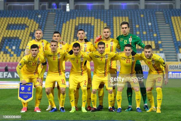 Romania's first eleven top row from left to right Cosmin Moti Claudiu Keseru Paul Anton George Puscas Ciprian Tatarusanu The bottom row Cristian...