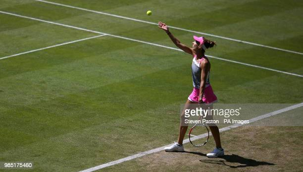 Romania's Mihaela Buzarnescu on Court One during day four of the Nature Valley International at Devonshire Park Eastbourne