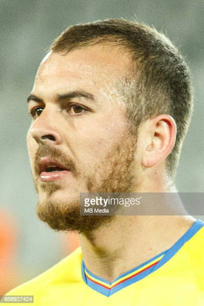 Romanias national soccer player Denis Alibec pictured after the 2018 FIFA World Cup qualifier soccer game between Romania and Denmark on March 26 at...