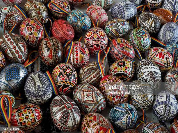 romania's painted easter eggs - botoșani romania stock pictures, royalty-free photos & images
