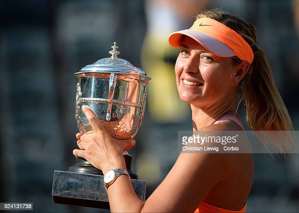 Romania's Simona Halep vs Russia's Maria Sharapova in the Women Final of the French Tennis Open 2014 in RolandGarros Stadium Paris France on June 7th...
