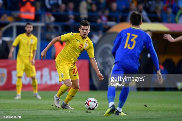 Romania's U21 Ianis Hagi during European Under21 Championship 2019 Qualifying Round between Romania U21 and Bosnia and Herzegovina U21 at Central...