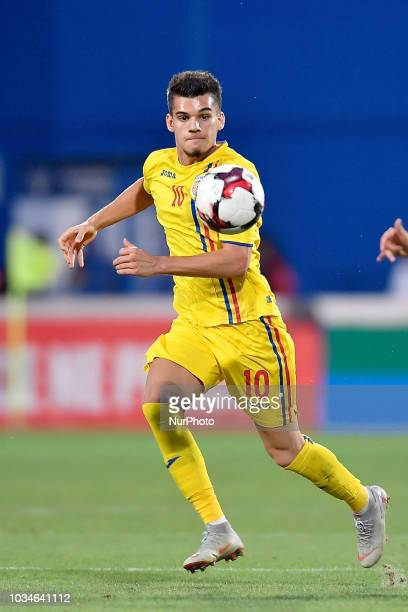 Romania's U21 Ianis Hagi in action during European Under21 Championship 2019 Qualifying Round between Romania U21 and Bosnia and Herzegovina U21 at...