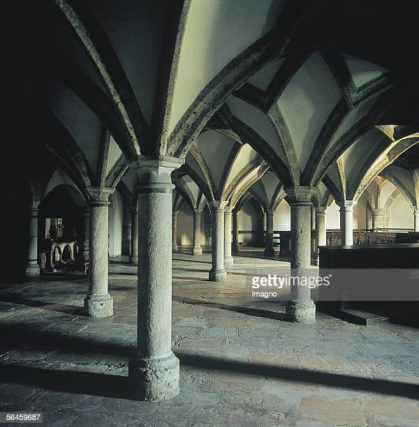 Romanic church in the Benedictine monastery of Nonnberg in Salzburg finished in 1099 Photography by Gerhard Trumler 1990 [Romanische Kirche 1099...