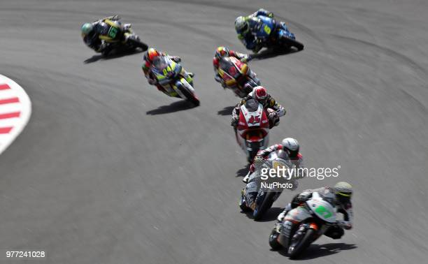 Romano Fenati and Tetsuta Nagashima during the Moto 2 GP Catalunya Moto GP, on 17th June in Barcelona, Spain. --