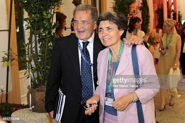 Romano Prodi and his wife Flavia Franzoni attend the Ambrosetti International Economy Forum at Villa d'Este Hotel on September 5 2014 in Como Italy...