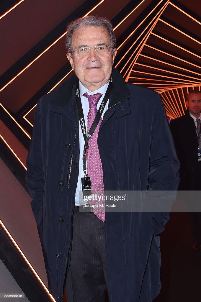 Romano Prodi attends LAMBORGHINI URUS WORLD PREMIERE on December 4, 2017 in Sant'Agata Bolognese, Italy.