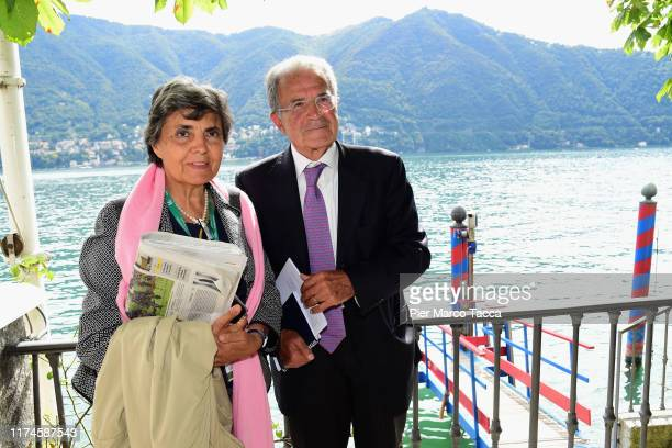 Romano Prodi member of Board of CEIBS China Europe International Business School and his wife Flavia Franzoni attend the Ambrosetti International...