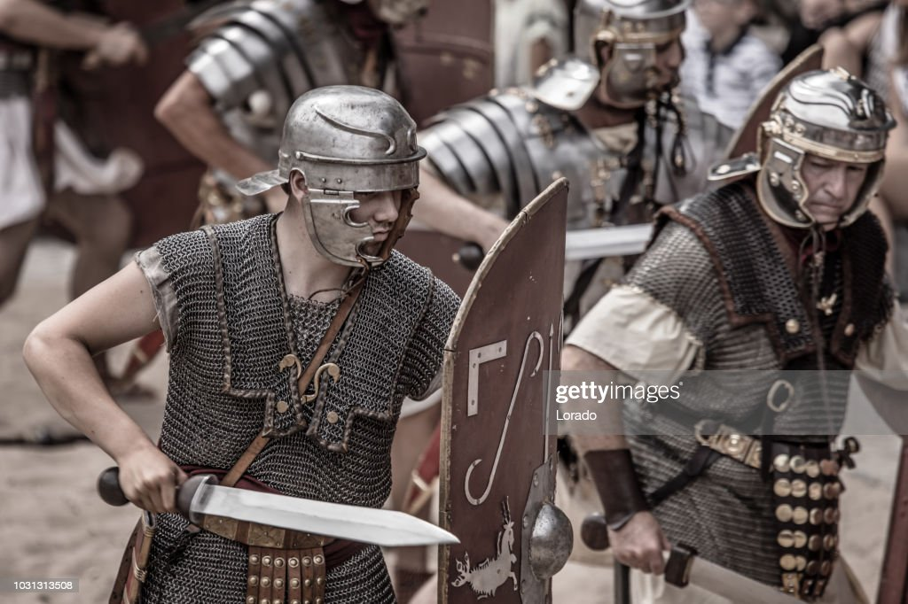 Romans during a public performance : Stock Photo
