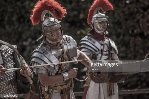 romanos, durante uma apresentação pública - centurião - fotografias e filmes do acervo
