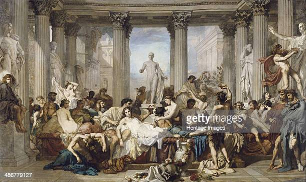 Romans during the Decadence 1847 Artist Couture Thomas