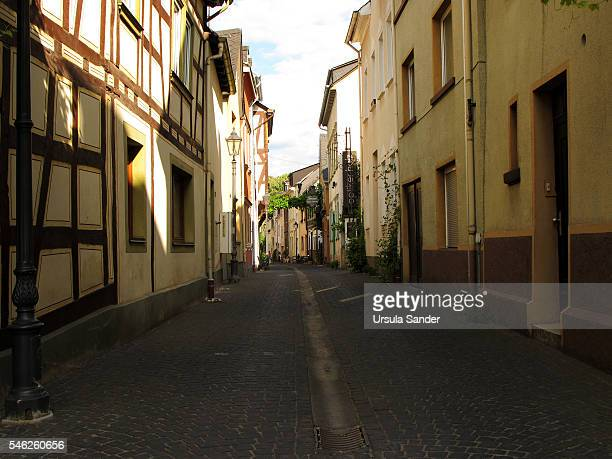 Romantic alley in Boppard, Rhineland-Palatinate, Germany