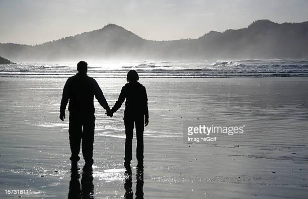 Romantische Beach Walk