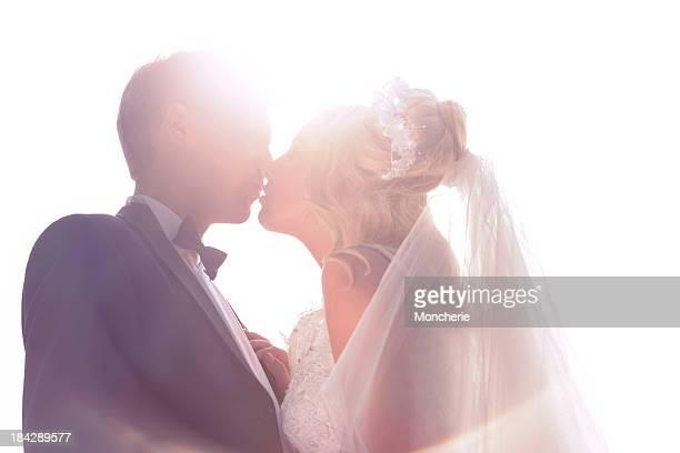 Romantic Bride and Groom