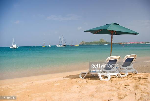romantic caribbean beach in St Lucia