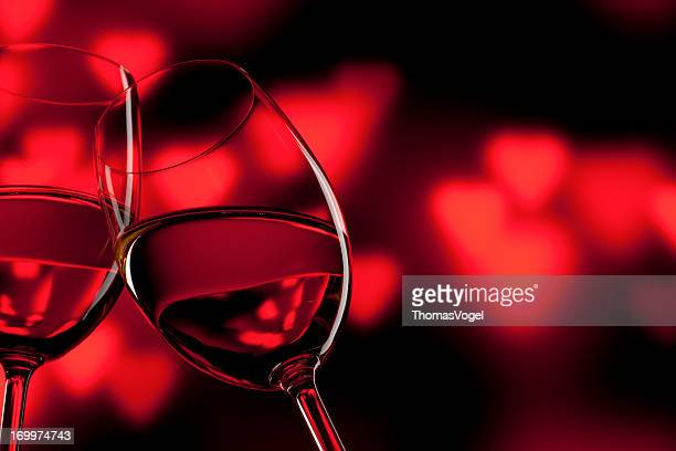 Romantic Celebration - Valentine's Day Wine Wineglass Red Love
