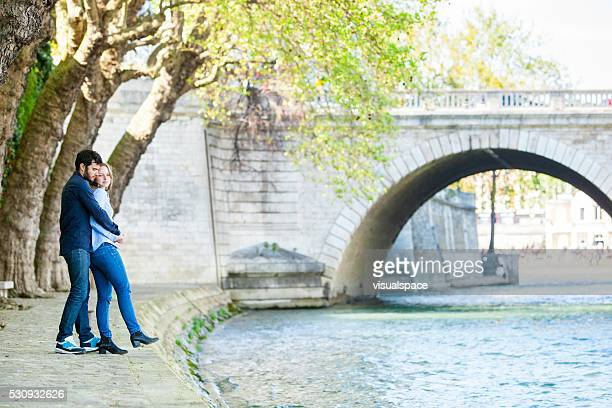 Romantic Couple At A Riverbank