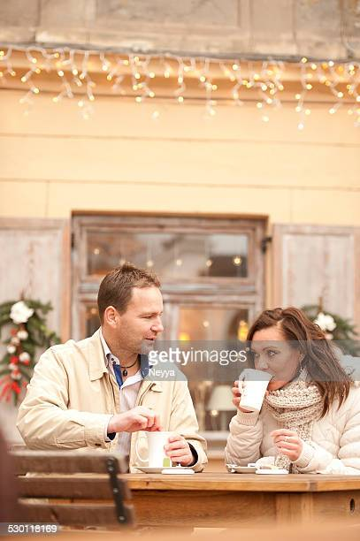 Romantic Couple at Christmas Time