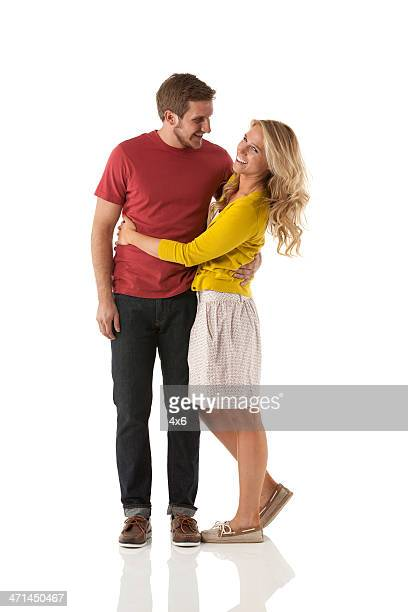 Romantic couple embracing each other