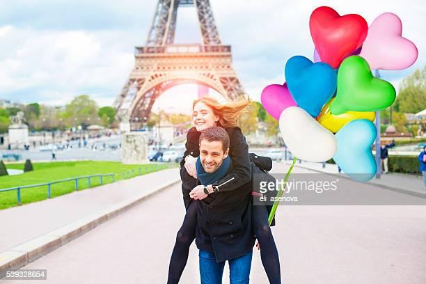 Romantic couple enjoying in Paris