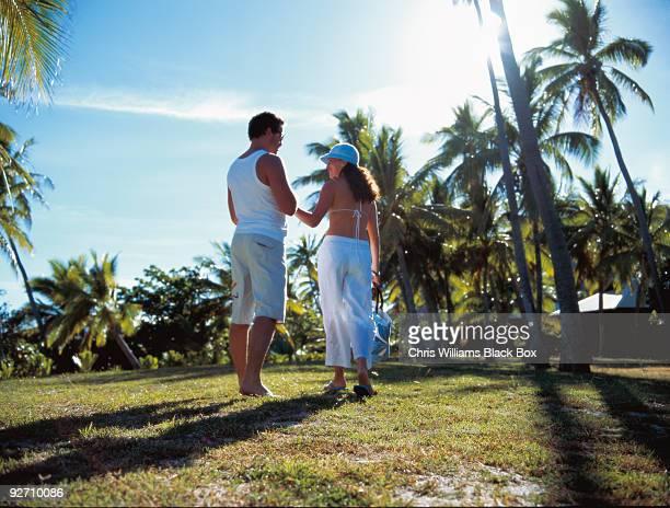 Romantic couple in Fiji.