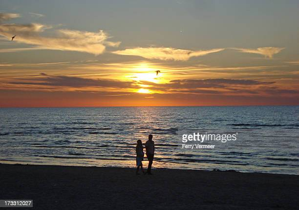 CONTENT] Romantic couple on the beach of Jurmala in Latvia one of the Baltic states taken during sunset
