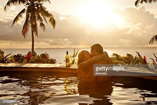 romantic couple on vacation - hot women making out stock pictures, royalty-free photos & images