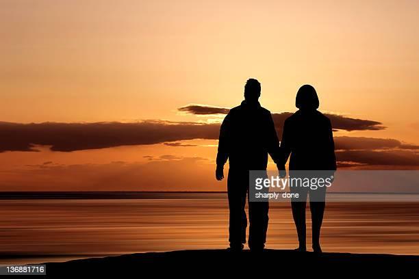 XL ロマンチックなカップルのシルエット