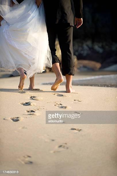 Romantisches paar walking
