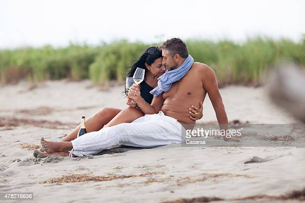 Romantic coupole on a remote beach