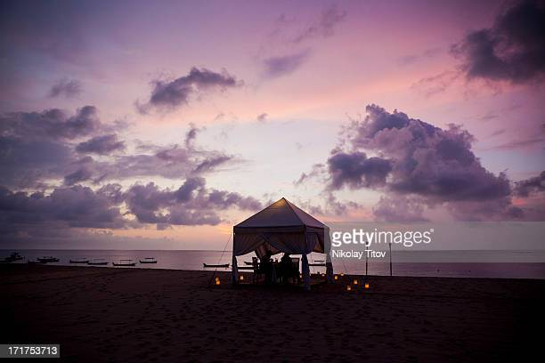 Romantic dinner at the beach, Bali, Indonesia