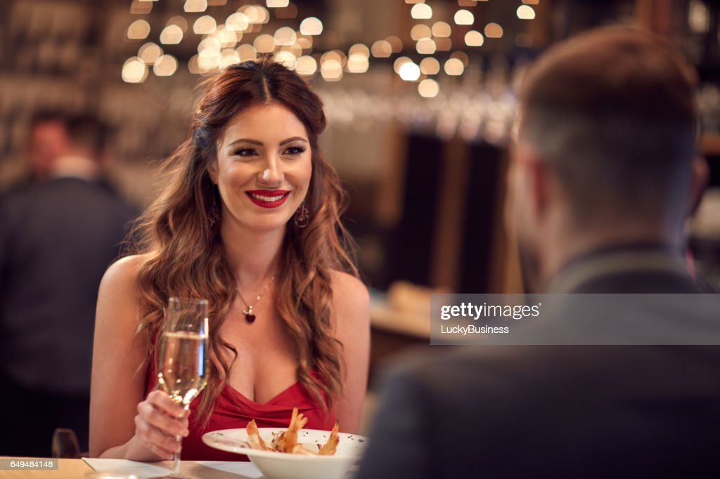 Romantic dinner for Valentine's day : Stock Photo