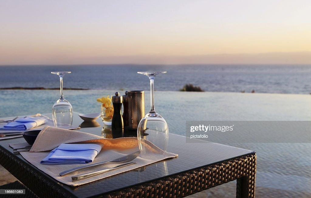Romantic Dinner on the Beach : Stock Photo
