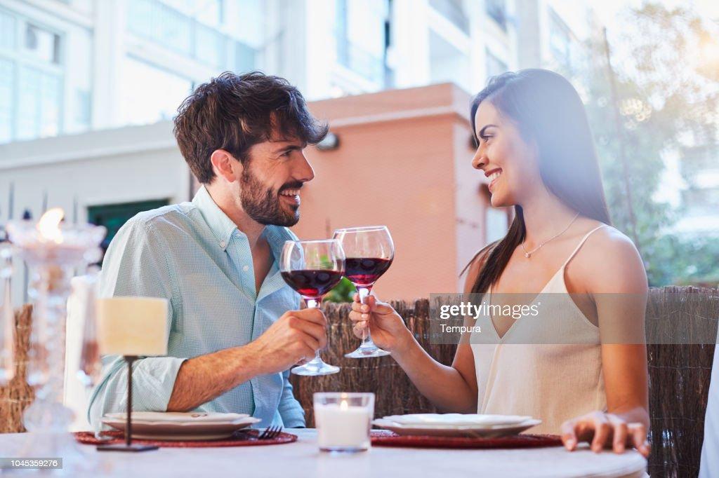Romantic dinner : Stock Photo