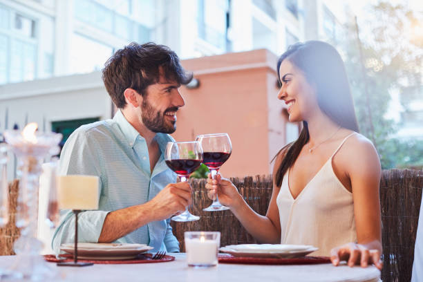 romantic dinner - couples romance stock pictures, royalty-free photos & images