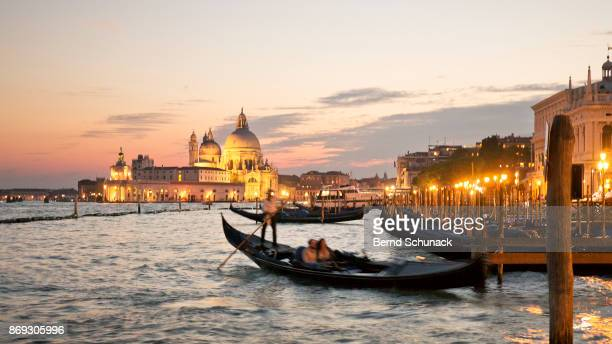 romantic gondola ride - bernd schunack stock photos and pictures