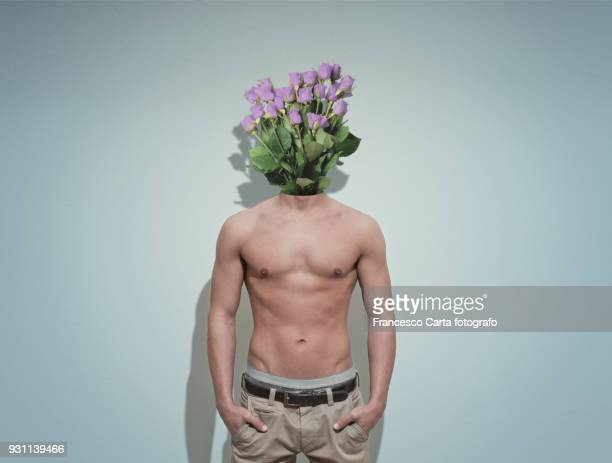 romantic ideas - headless man stock pictures, royalty-free photos & images