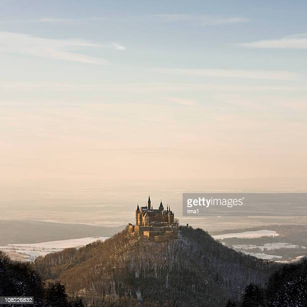 romantic landscape - castle stock photos and pictures