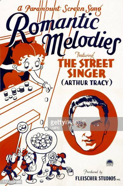Romantic Melodies, poster, poster art, from left: Betty Boop, Arthur Tracy, 1932.