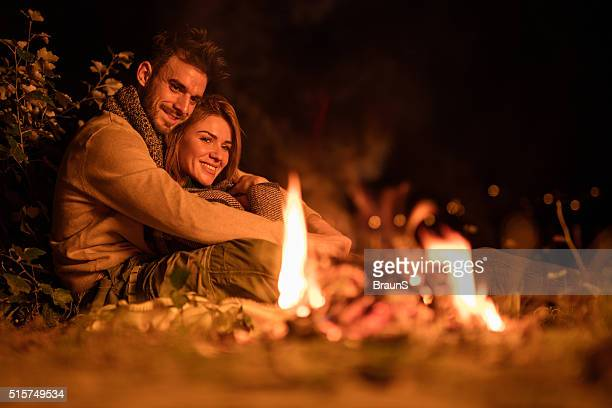 Romantic night by the campfire!