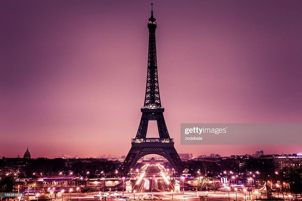 Romantic Paris with Tour Eiffel : Stock Photo
